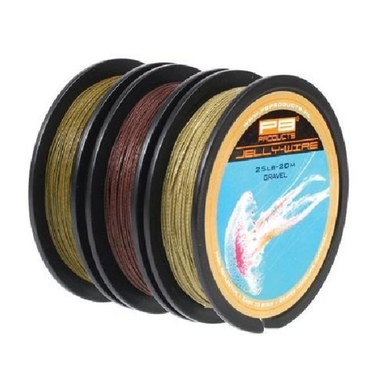 PB Products Jelly Wire Gravel 15LB 20M - homokszínű előkezsinór | CarpDoctor Leads