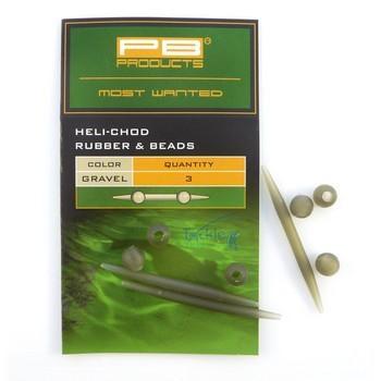 PB Products Heli-Chod Rubber & Beads Weed - növényzetszínű gumiütköző   CarpDoctor Leads
