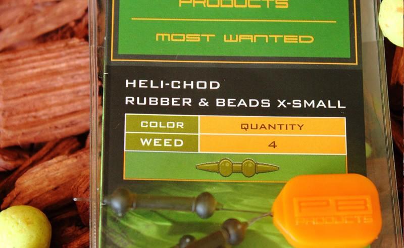 PB Products Heli-Chod Rubber & Beads XS Weed - növényzetszínű gumiütköző   CarpDoctor Leads
