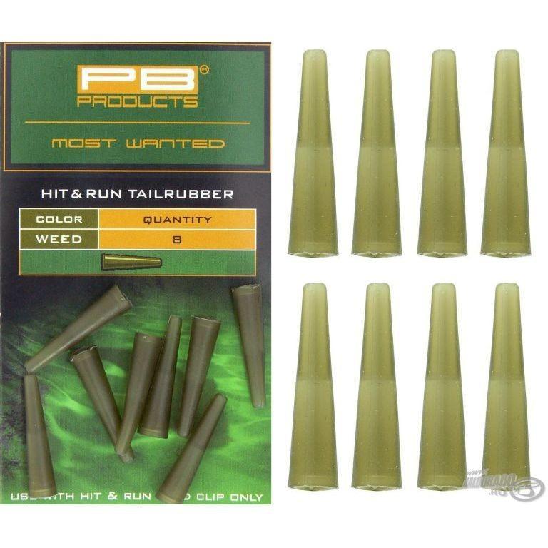 PB Products Hit&Run Tail rubbers weed - növényzet színű gumikúp | CarpDoctor Leads