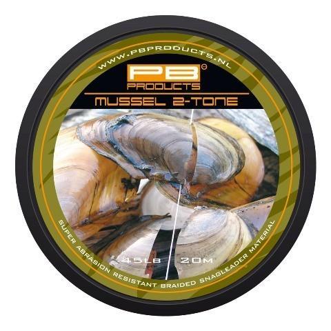 PB Products Mussel 2 Tone előkezsinór 35LB 20M   CarpDoctor Leads