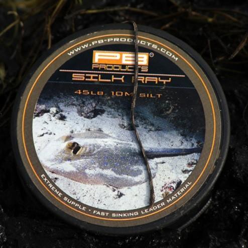 PB Products Silk Ray Silt 45LB 10M- iszapszínű ólomnélküli előkezsinór | CarpDoctor Leads