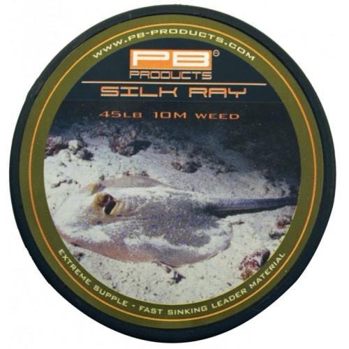 PB Products Silk Ray Weed 45LB 10M- növényzet színű ólomnélküli előkezsinór | CarpDoctor Leads