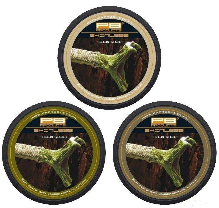PB Products Skinless Weed 25LB 20M -merev bevonatos növényzet színű előkezsinór | CarpDoctor Leads