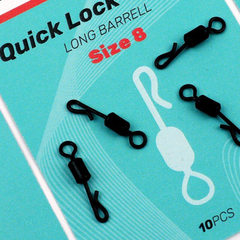 SEDO Quick Lock Swivel, Long Barrell size8 | CarpDoctor Leads
