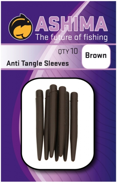 Ashima Anti Tangle Sleeves Brown   CarpDoctor Leads