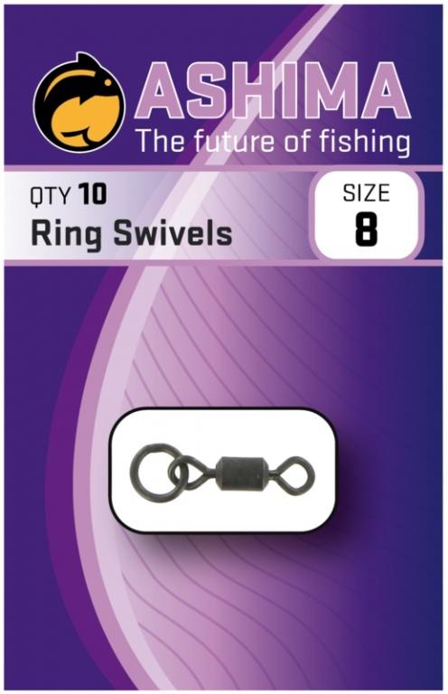 Ashima Ring Swivels Size 8   CarpDoctor Leads