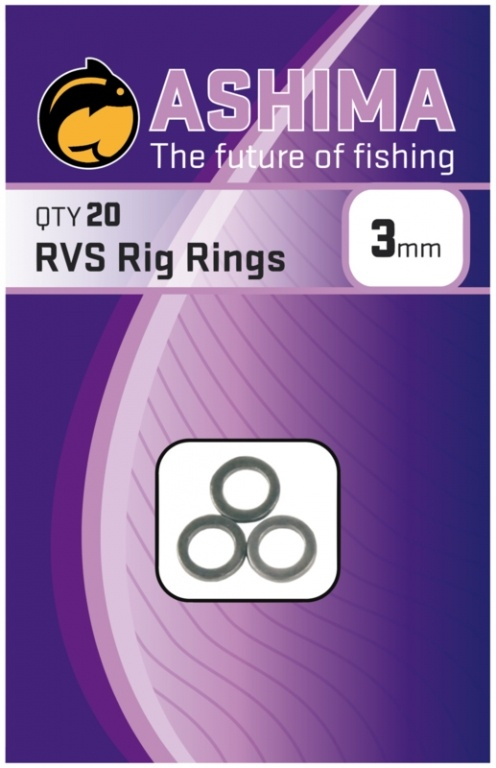 Ashima RVS Rig Rings 3mm | CarpDoctor Leads