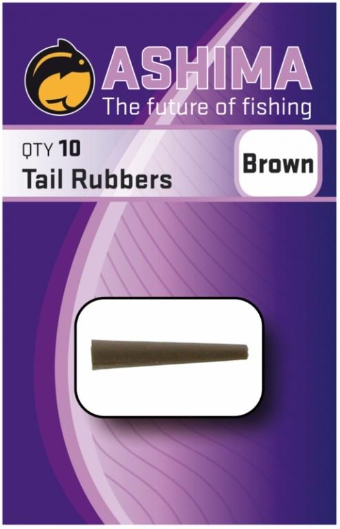 Ashima Tail Rubbers Brown | CarpDoctor Leads