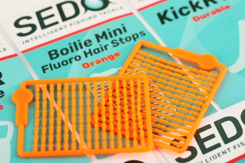 SEDO Boilie Mini Fluoro Hair Stops - Orange   CarpDoctor Leads